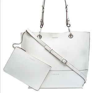 Calvin Klein Reversible Tote With Pouch White